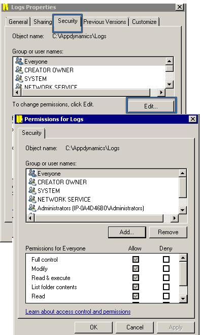 iis application pool identity permissions