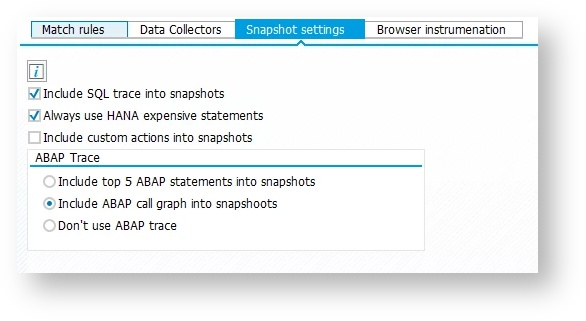 Configure Business Transaction Detection - AppDynamics SAP Agent